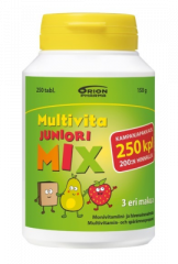 MULTIVITA JUNIORI MIX MONIVITAMIINI KAMPANJAPAKKAUS 250 PURUTABL