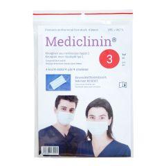 Mediclinin kirurg. suu-nenäsuojus 4 krs CE EN 14683 3 kpl