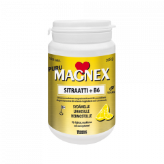 Magnex Sitraatti 375mg + B6 puru 100 tabl
