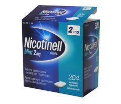 NICOTINELL MINT 2 mg lääkepurukumi 204 fol