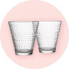 Iittalan Kastehelmi-juomalasit 2 kpl (3 dl, kirkas)